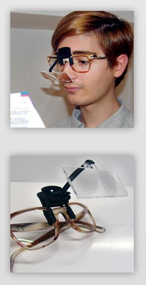 Microscopios adaptables a gafas
